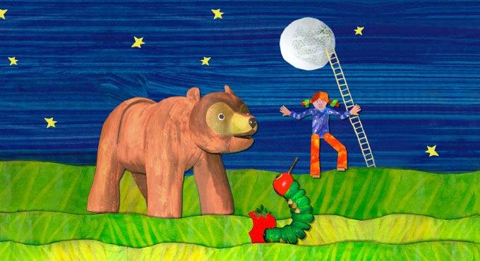 A BROWN BEAR, A MOON, & A CATERPILLAR