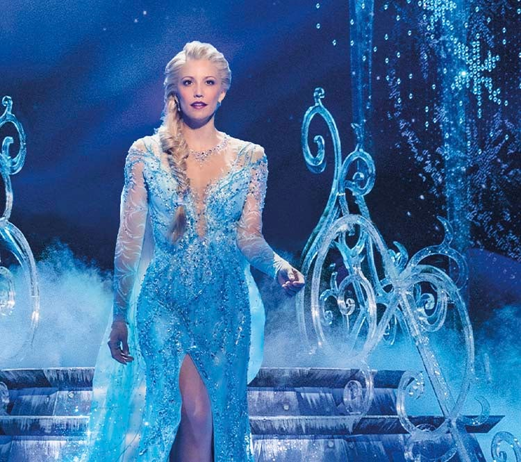Caroline Bowman (Elsa) in Frozen North American Tour. Photo by Deen van Meer. © Disney.