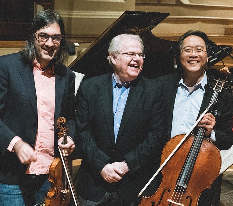 Emanuel Ax, Leonidas Kavakos, and Yo-Yo Ma
